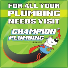 Get plumbing done by our partner Champion Plumbing in Fredericksburg, TX.